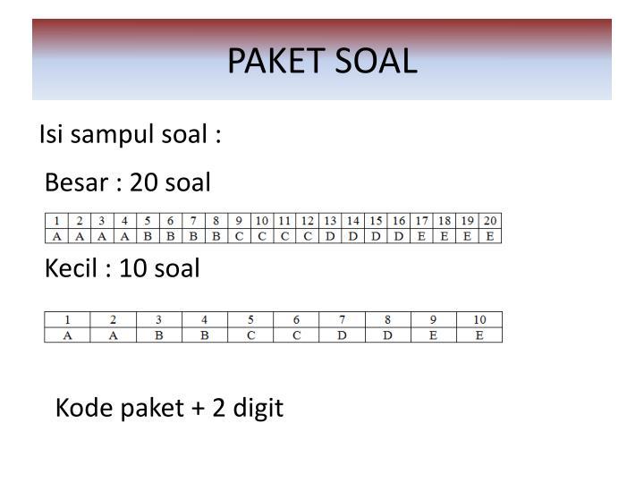 PAKET SOAL
