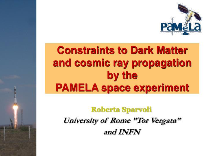 Constraints to dark matter and cosmic ray propagation by the pamela space experiment
