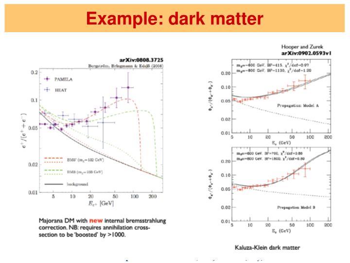 Example: dark matter
