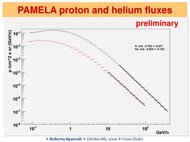 PAMELA proton and helium fluxes