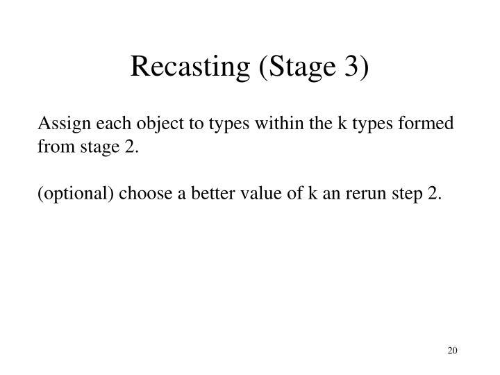 Recasting (Stage 3)