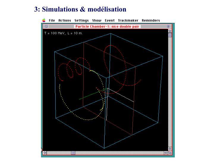 3: Simulations & modélisation