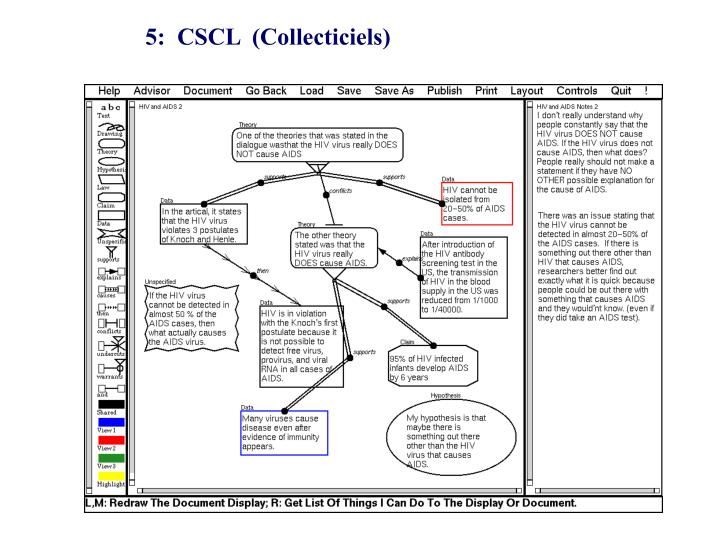 5:  CSCL  (Collecticiels)
