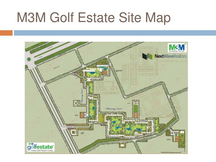 M3M Golf Estate Site Map