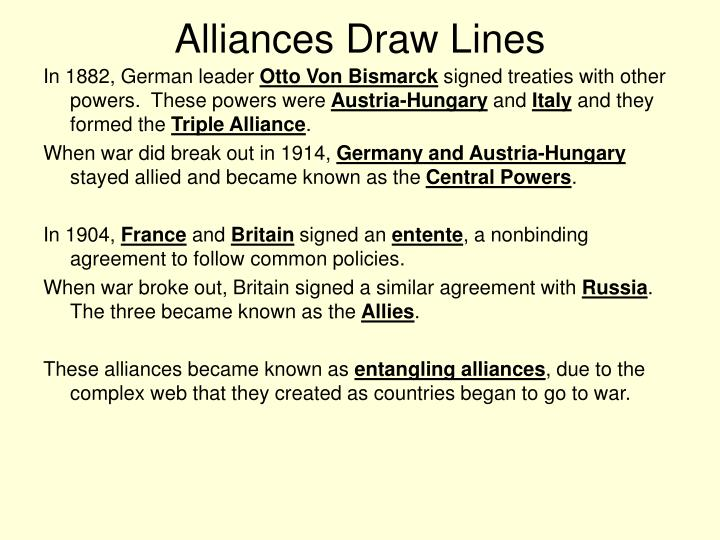 Alliances Draw Lines