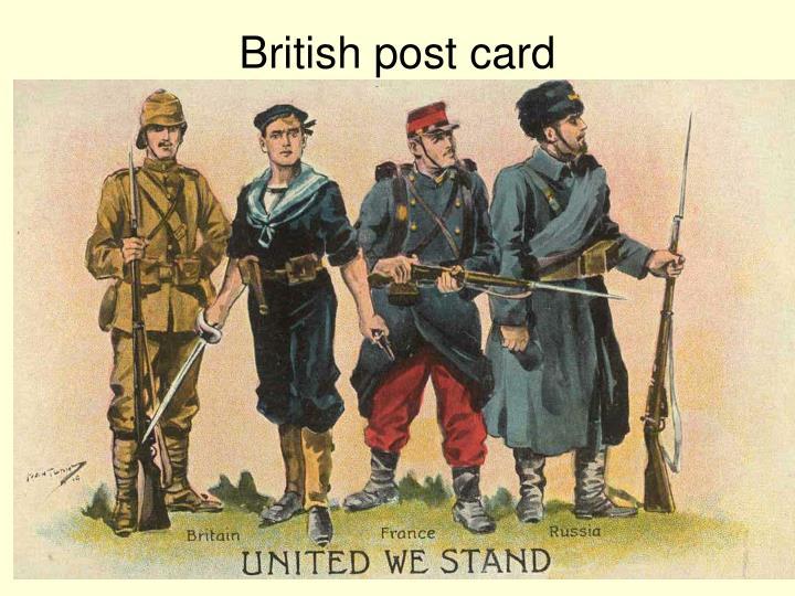British post card