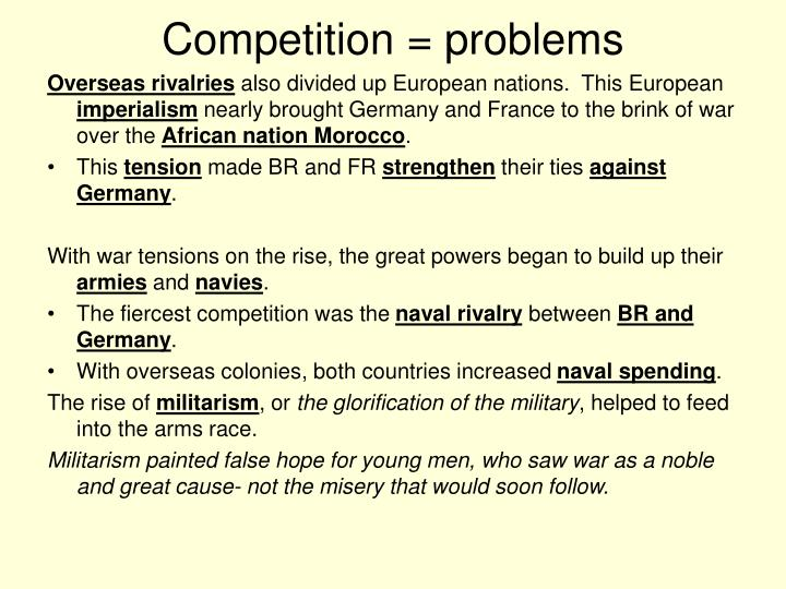 Competition = problems