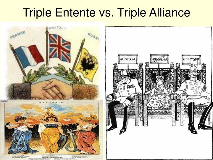 Triple Entente vs. Triple Alliance