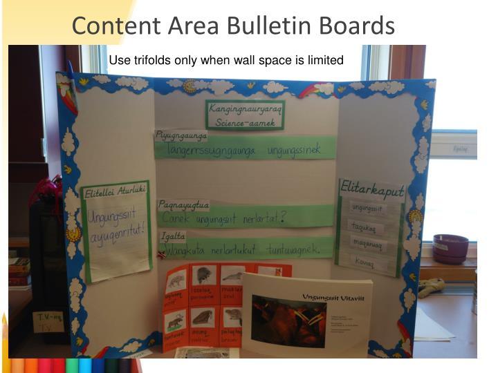 Content Area Bulletin