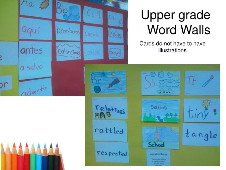 Upper grade Word Walls