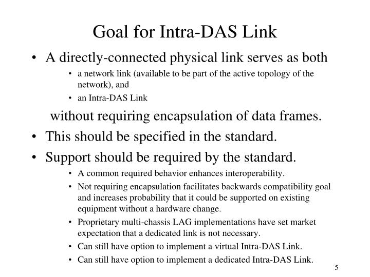 Goal for Intra-DAS Link
