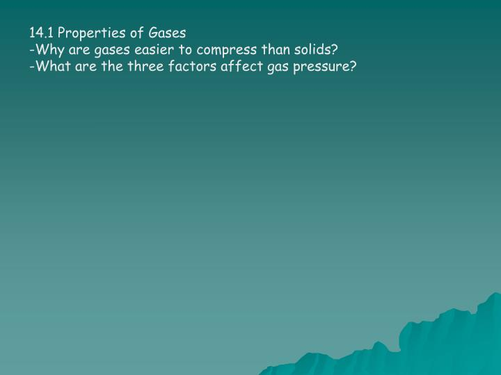 14.1 Properties of Gases