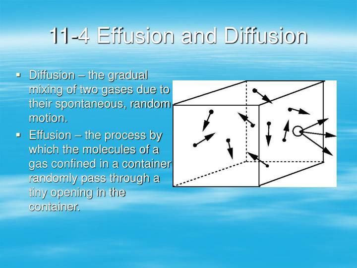 11-4 Effusion and Diffusion