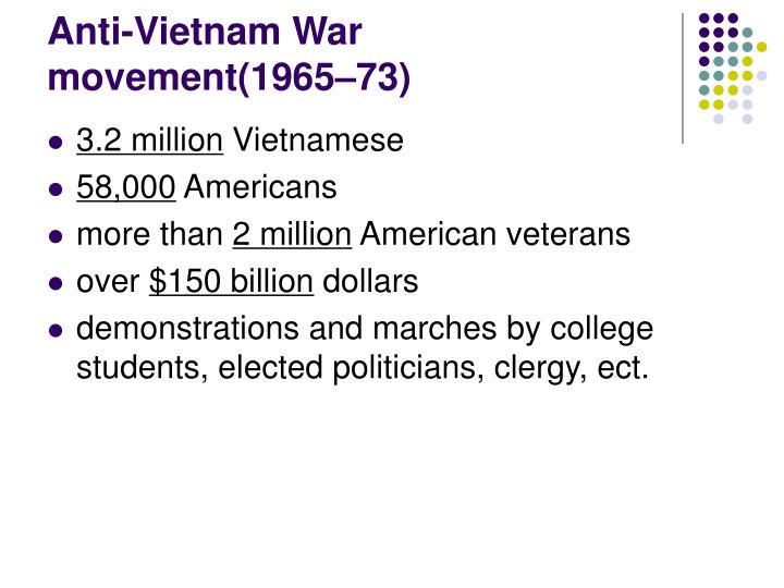 Anti-Vietnam War movement(1965–73)