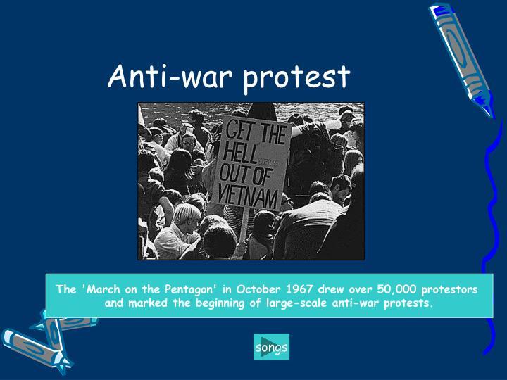 Anti-war protest