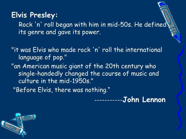 Elvis Presley: