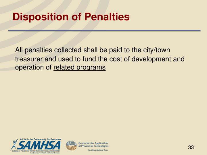 Disposition of Penalties