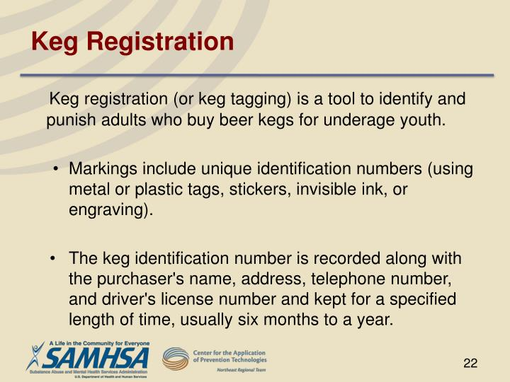 Keg Registration
