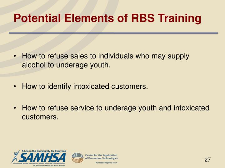 Potential Elements of RBS Training
