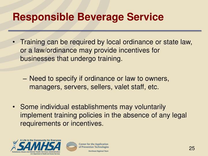 Responsible Beverage Service