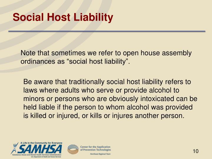 Social Host Liability