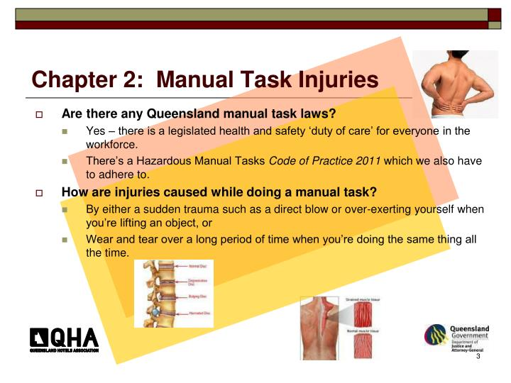 Chapter 2:  Manual Task Injuries