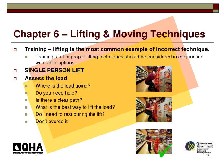 Chapter 6 – Lifting & Moving Techniques