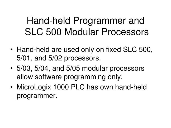 Hand-held Programmer and