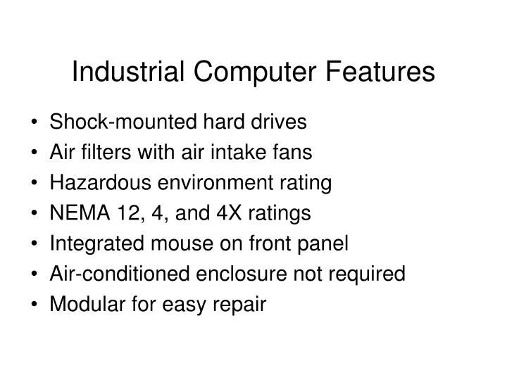 Industrial Computer Features