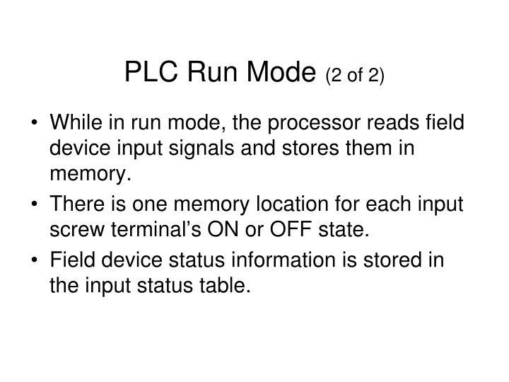 PLC Run Mode