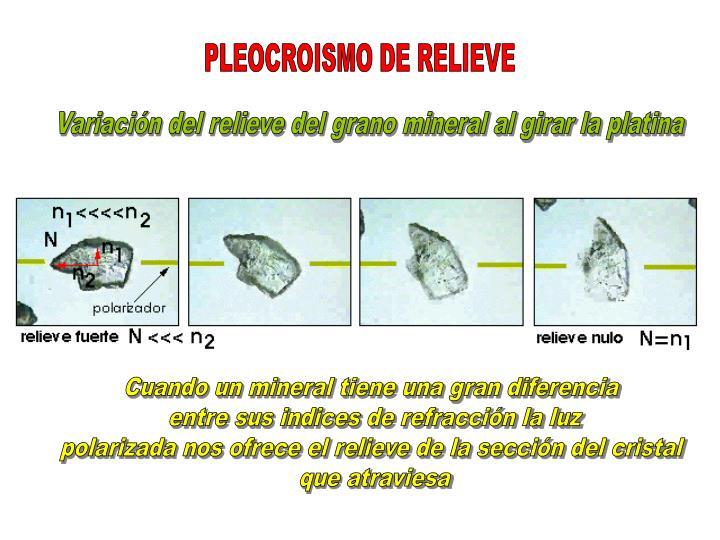 PLEOCROISMO DE RELIEVE