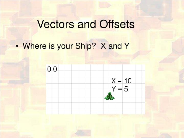 Vectors and Offsets