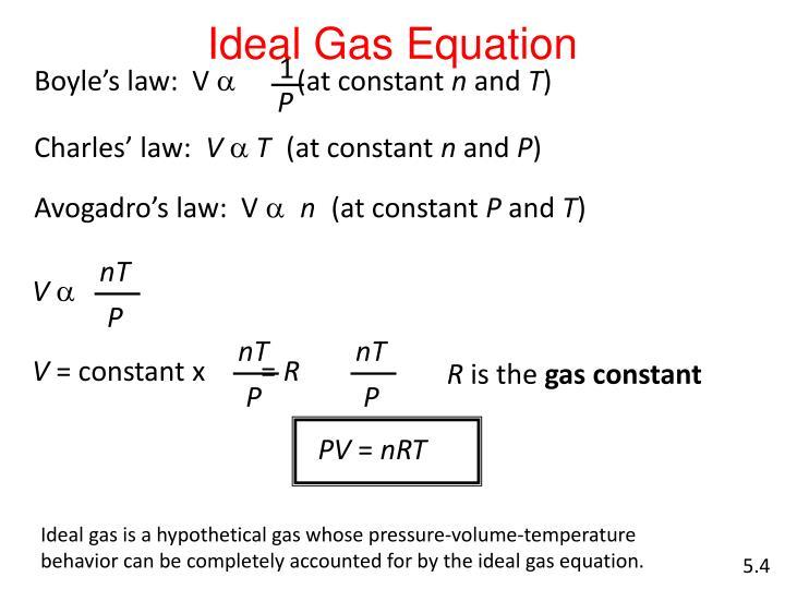 Boyle's law:  V
