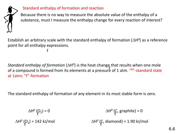 Establish an arbitrary scale with the standard enthalpy of formation (