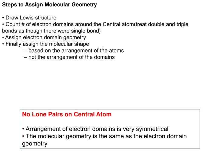 Steps to Assign Molecular Geometry
