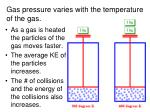 gas pressure varies with the temperature of the gas