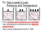 iii gay lussac s law pressure and temperature