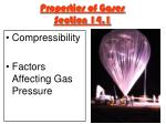 properties of gases section 14 1