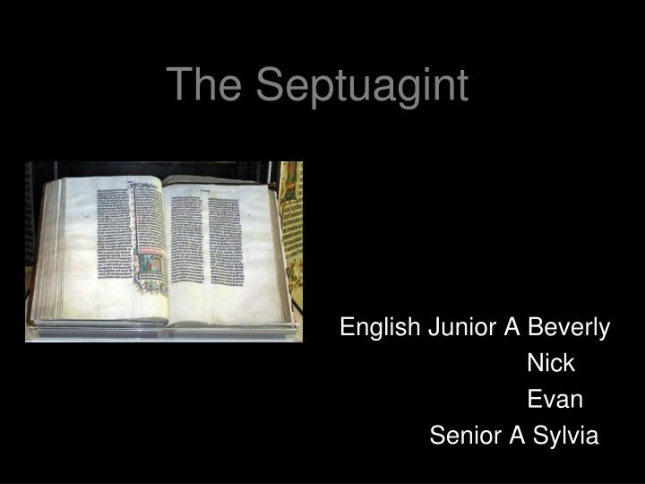 The septuagint