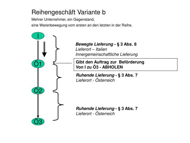 Reihengeschft Variante b