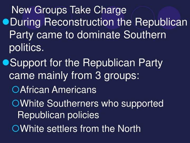 New groups take charge