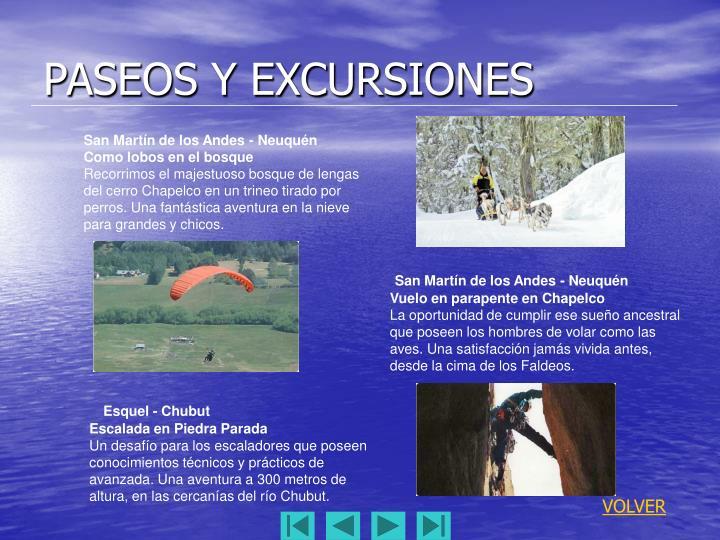 PASEOS Y EXCURSIONES