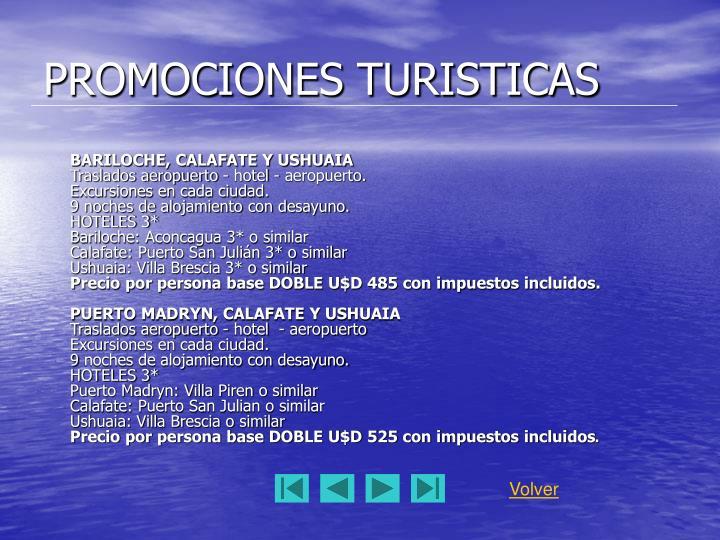 PROMOCIONES TURISTICAS