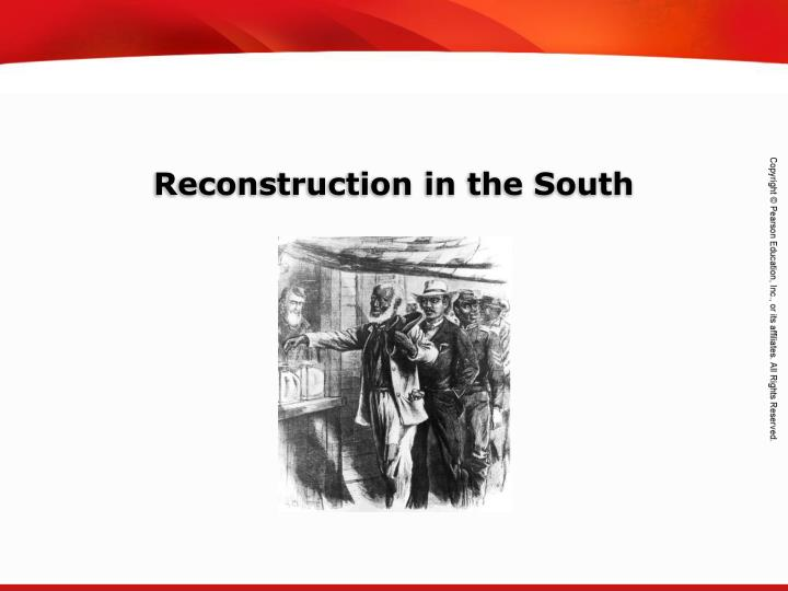 reconstruction in the south essay