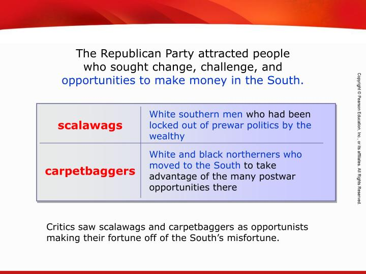 The Republican Party attracted people