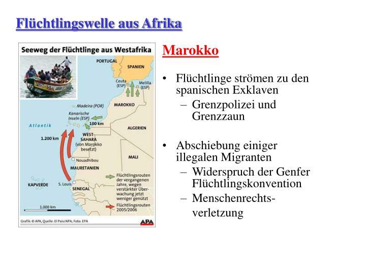 Flüchtlingswelle aus Afrika