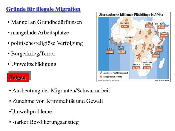 Gründe für illegale Migration