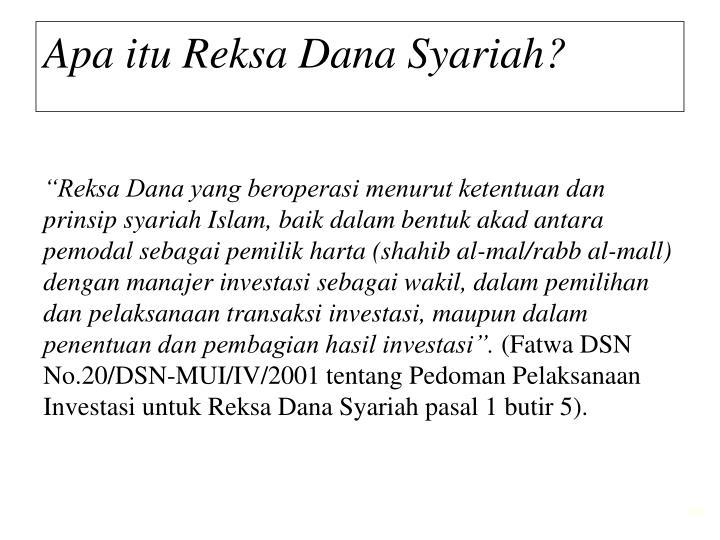 Apa itu Reksa Dana Syariah?