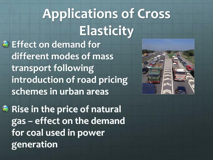 Effect on demand for different modes of mass transport following introduction of road pricing schemes in urban areas