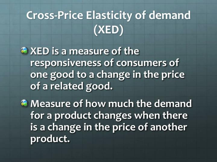 Cross-Price Elasticity of demand (XED)